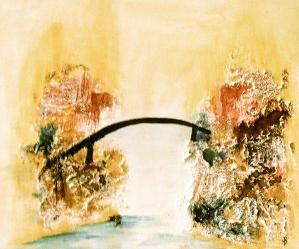 Brücke am Felsen